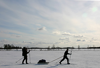 Skiers on Martimoaapa. Photo: Olli Vainio