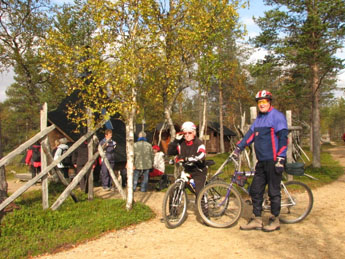 Bikers at Piispanoja. Photo: Nina Raasakka