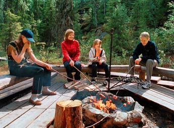The campfire sites in Syöte National Park have recently been renovated. Photo: Jorma Luhta