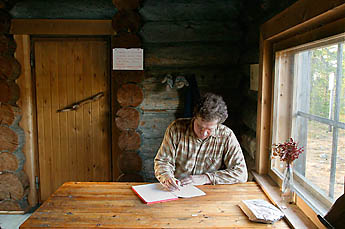 In huts there is a guestbooks. Photo: Kimmo Kuure