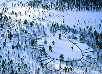 The Sallivaara Round-Up Site. Photo: Lentokuva Vallas