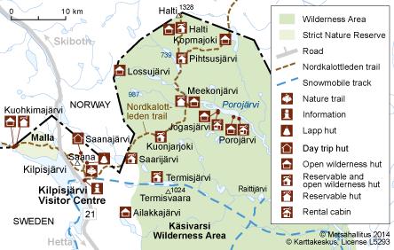 Nordkalottleden Trail Directions And Maps Nationalparksfi - Sweden map directions