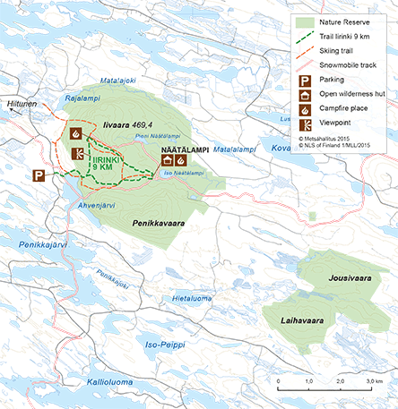 Map of Iivaara Nature Reserve