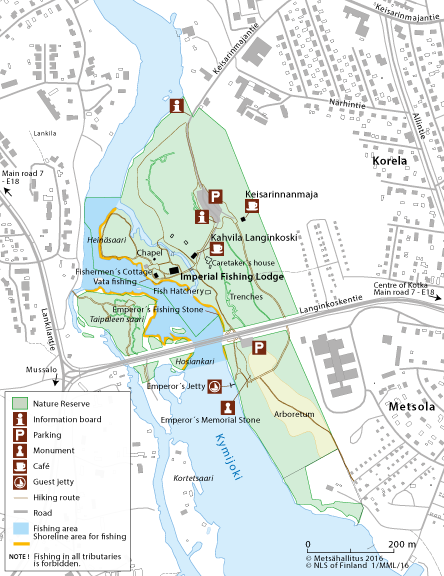 Langinkoski Nature Reserve Directions and Maps Nationalparksfi