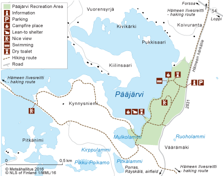 Pjrvi Directions and Maps Nationalparksfi