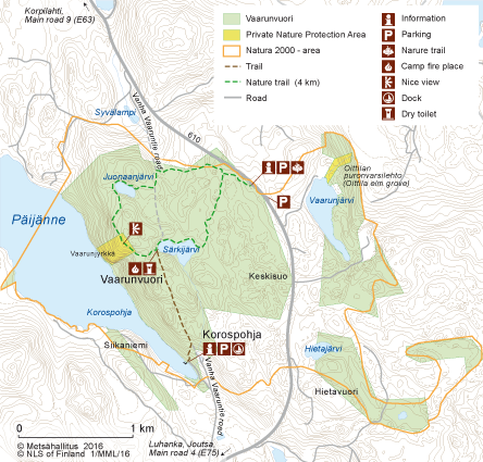 Vaarunvuoret Directions and Maps Nationalparksfi