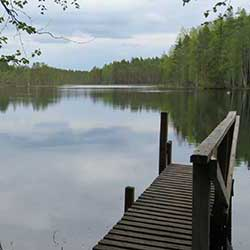 The scenic Lake Koverojärvi. Photo: Johanna Vääkeväinen