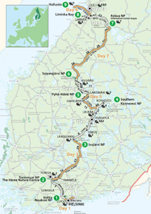 """7 Finnish National Parks"" Touring Route"