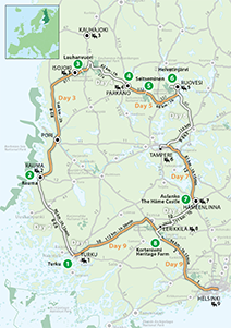 """Finland's Cultural Landscapes"" Touring Route"