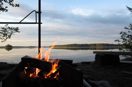 Campfire site in Korteniemi. Photo: Elina Nystedt