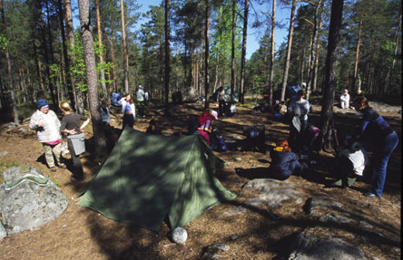 Camping in Nuuksio National Park. Photo: Mauri Leivo