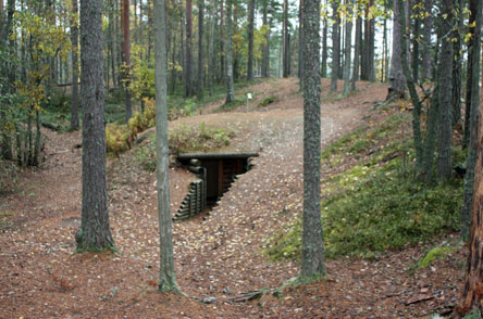 A restored dugout shelter. Photo: Heikki Korkalainen