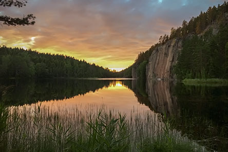 Olhavanvuori rock at the Korpinkierros Trail. Photo: Saara Lavi