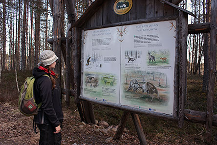 Information board of Sysilampi. Photo: Anna-Riikka Ihantola.