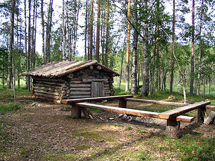 The meadow sauna of Kaulus. Photo: Metsähallitus.