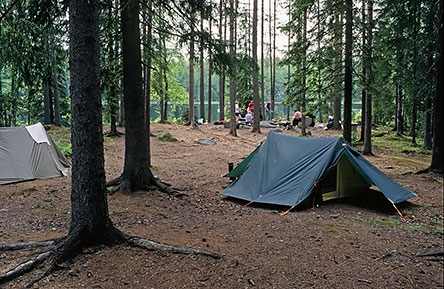 Liesijärvi camping site is a pleasant place to settle for the night. Photo: Timo Nieminen