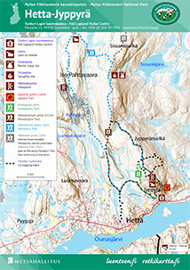 Hetta–Jyppyrä Area Trail Map