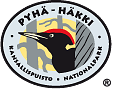 The Emblem of Pyhä-Häkki National Park - Black Woodpecker