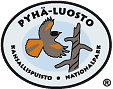 The Emblem of Pyhä-Luosto National Park - Siberian Jay and a dead standing tree