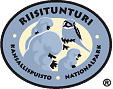 The Emblem of Riisitunturi National Park - Hawk Owl and crown snow topped spruce branches