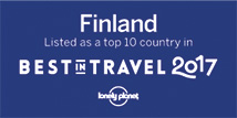 Lonely Planet Best in Travel 2017 badge for tourism board partners Finland