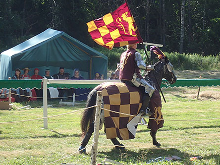 Tournament atmosphere at the medieval market in Raseborg. Photo: Henrik Jansson