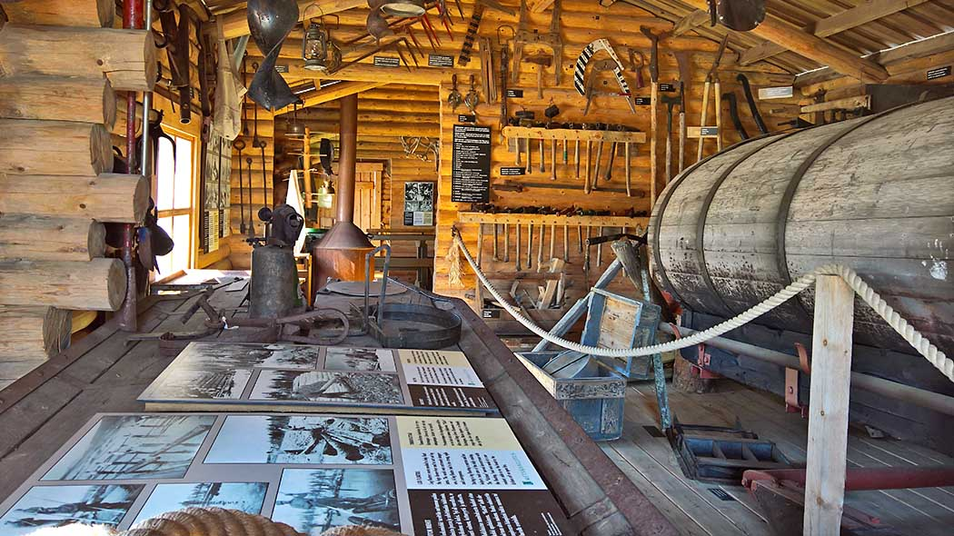 The Logging Museum introduces the history of logging in Lapland. Photo: Maarit Kyöstilä.