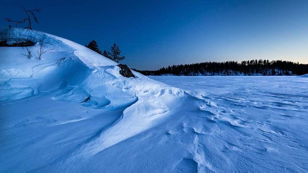 Winter in Linnansaari National Park. Photo: Vesa Nikkanen