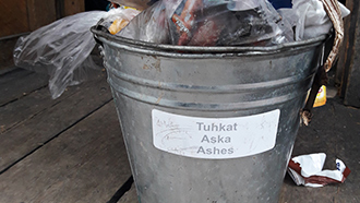 The ash bucket is no place for trashes. Photo: Aarne Harju