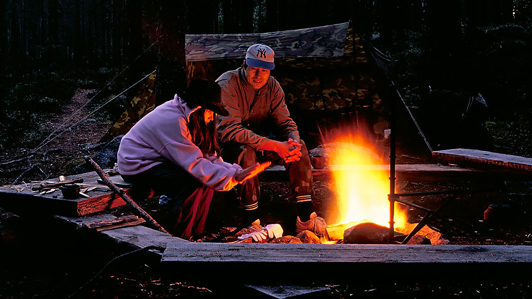 Evening by a campfire. Photo: Timo Nieminen