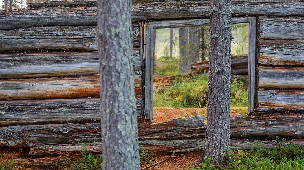 Old ruins of a logging cabin in Pyhä-Luosto National Park. Image: Vastavalo