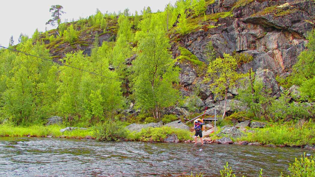 There are wire ropes to cross rivers safely. Photo: Kirsi Luonuankoski