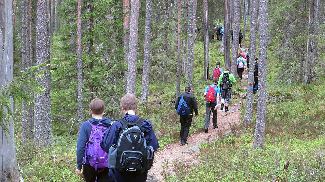 Hikers in Pyhä-Häkki. Photo: Maija Mikkola.