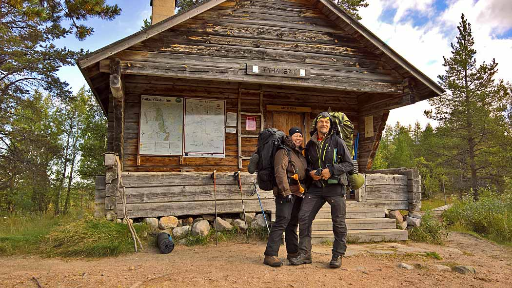 The Pyhäkero Open Wilderness Hut is the northernmost hut along the trail. Photo: Maarit Kyöstilä.