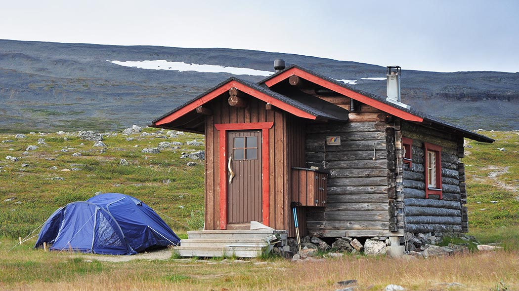 Meekonjärvi Open Wilderness Hut is situated along the Nordkalottleden Trail. Photo: Seija Olkkonen.