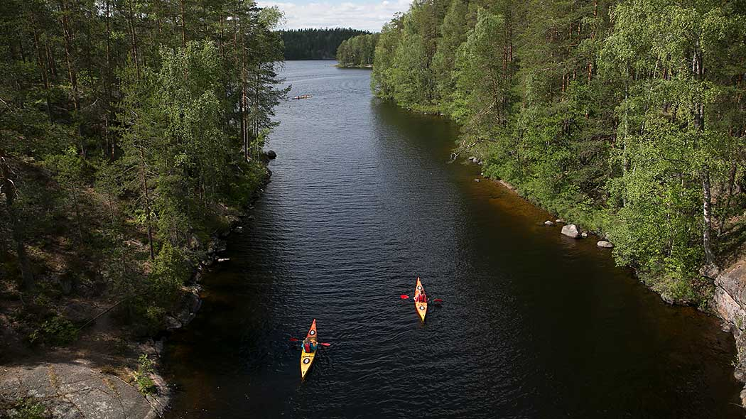 Some of Finland's most treasured wild places can be explored on a canoe or kayak. Photo: Saara Olkkonen.