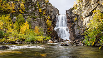 Fiellu Waterfall. Photo: Tuomas Pyhtilä/Vastavalo
