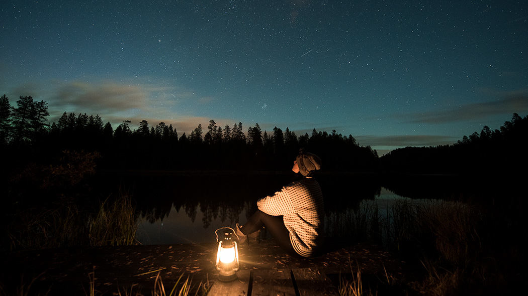 A starry sky on pond Lauttalampi, beside the amazing Pytkynharju esker. Photo: Eeva Mäkinen