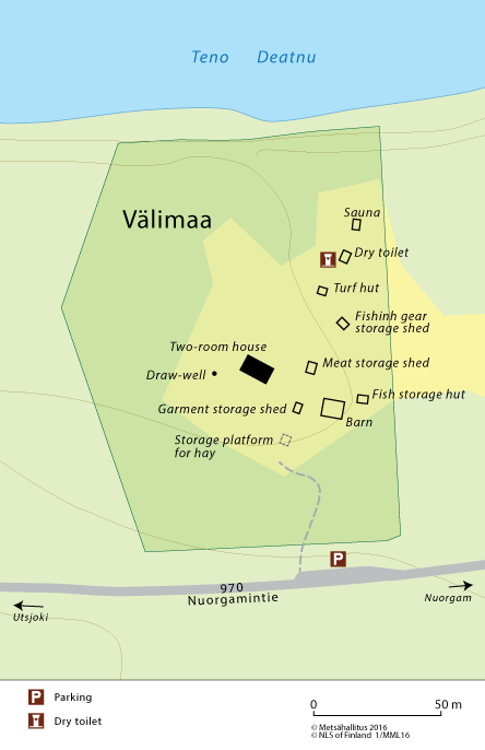 Map of Välimaa River Sámi Farm © Metsähallitus 2016